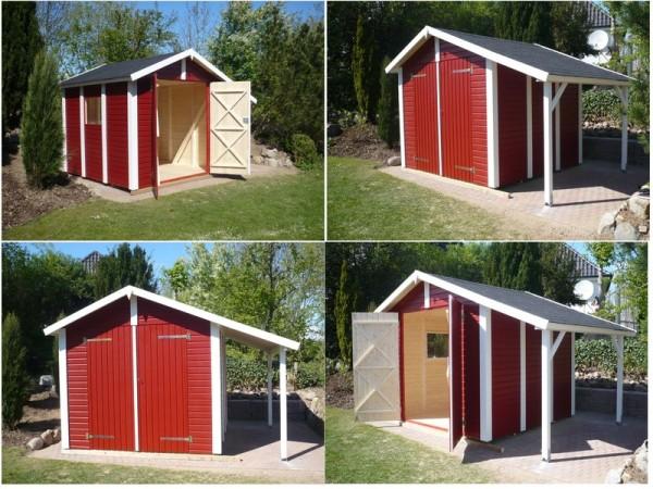 Gartenhaus Elementbauweise, Nordic 30/23, SD Schlepp Dach